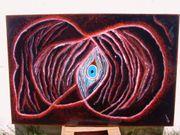 Öl-Gemälde Sanduhr Nebel MyCn18 auf