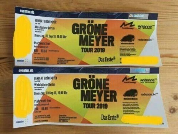 Herbert Grönemeyer 2 Tickets freie