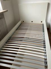 Weißes Malm Ikea Bett 90x