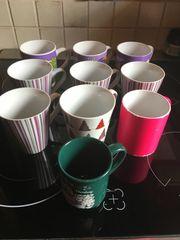 10 Tassen 3 Gläser 2