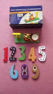 Holz Geburtstags-Tischdekoration