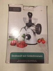 Küchen helfer Drehwolf mit Gebäckvorsatz