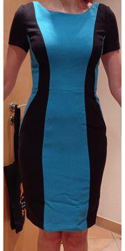 Etui-Kleid Business schwarz blau S