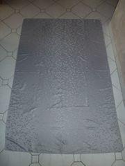 Tischdecke rechteckig grau silber ca