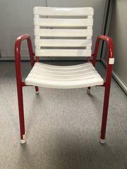 Kinderstuhl stabil in rot weiß