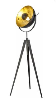 Stehlampe Schwarz Gold