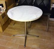Tisch Holzrund weiss - 60cm x