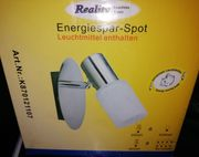 Lampe Energiespar-Spot in nickel matt