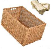 BEENA Brennholzkorb mit eingearbeiteten Griffen