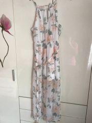 Kleid weiß geblümt Marke Cotton