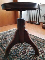 Antik Schöner Klavierhocker massiv Eiche