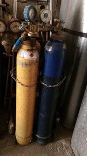 2 Gasflaschen Eigentumsflasche Acetylen Schweißgas