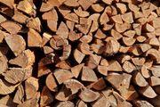 Holz Brennholz Brennholz gespalten und