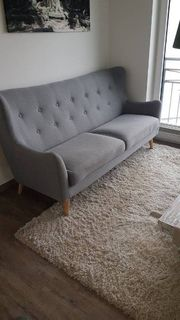 Sofa Couch 3- sitzig Stoff