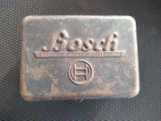Alte Blechdose von Bosch Oldtimer