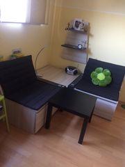 2-Sitzer Eckkombination Röhr kl Wandboard