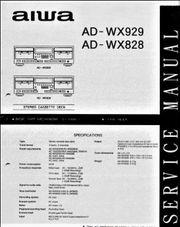 AIWA AD-WX 929 828 SERVICE-Reapar