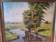Ölgemälde K Höhn 1953 Landschaft