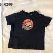 blaues T-shirt mit Piratendruck Größe