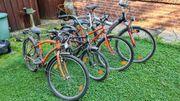 4 Fahrräder Bastlerteile