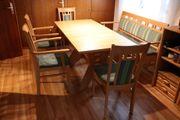 Esszimmer komplett Tisch Stühle Bank