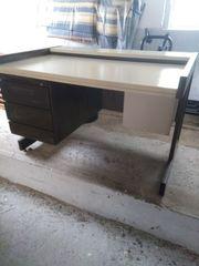 Schreibtisch stabil mit Metallrahmen Arbeitstisch