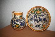 Keramikkrug mit Teller