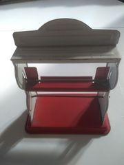 Alter Kaufladen-Packpapierhalter aus Blech - um