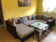 Wohnlandschaft Sofa Couch mit Bettfunktion