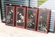 4 Original Chinesische Hängebilder