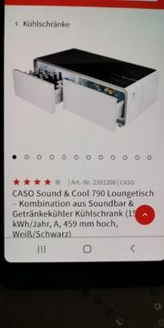 couchtisch caso sound and cool