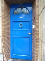 Haustür RAL 5005 blau aus