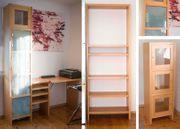 Wohnwand Büroeinrichtung Regalsystem mit Glastüren