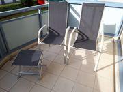 Gartenstühle Gartenstuhl 2xHochlehner 1 Hocker