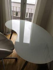 Ikea Galant Thyge Glasschreibtisch