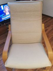 Sessel mit Hocker von Ikea