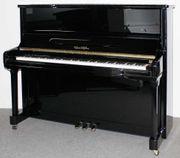 Klavier August Hoffman schwarz poliert