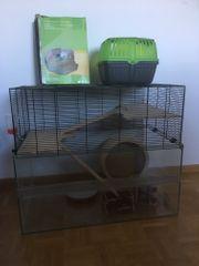 Hamsterkäfig inklusive Zubehör Transportbox und