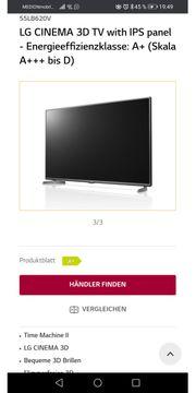 LG 3 D TV 139cm