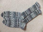 1 Paar Wollsocken gestrickt Stricksocken