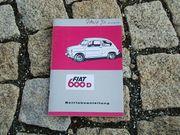 Betriebsanleitung Fiat 600 D 770