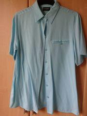 Vintage Kurzarm-Bluse Bluse länger Gr