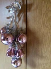 Fensterschmuck - Weihnachten Rosa Kugeln und