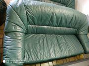 Echtleder Sitzgarnitur Sofa