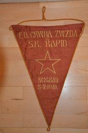 Fußball Wimpel Roter Stern Belgrad