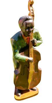 Deko-Figur Jazzspieler aus massivem Holz