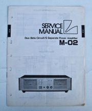 Luxman M 02 Verstärker Schaltplan