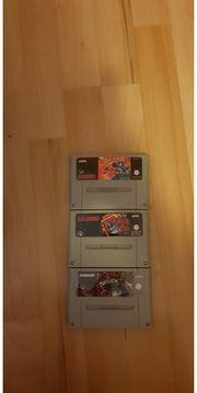 3x Nintendo SNES Spiele - Mega