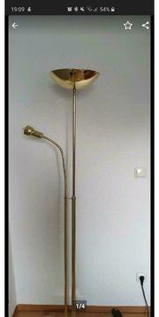 Goldene Stehlampe
