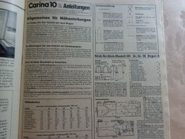 Handarbeit, Basteln - Vintage - Carina - Schnittmusterheft 1 00